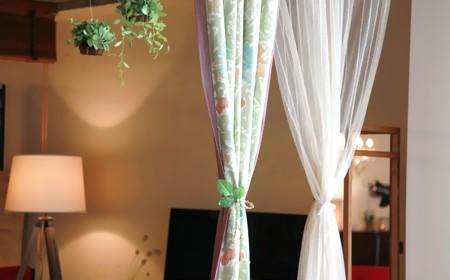 カーテンは部屋で一番大きなドレープ